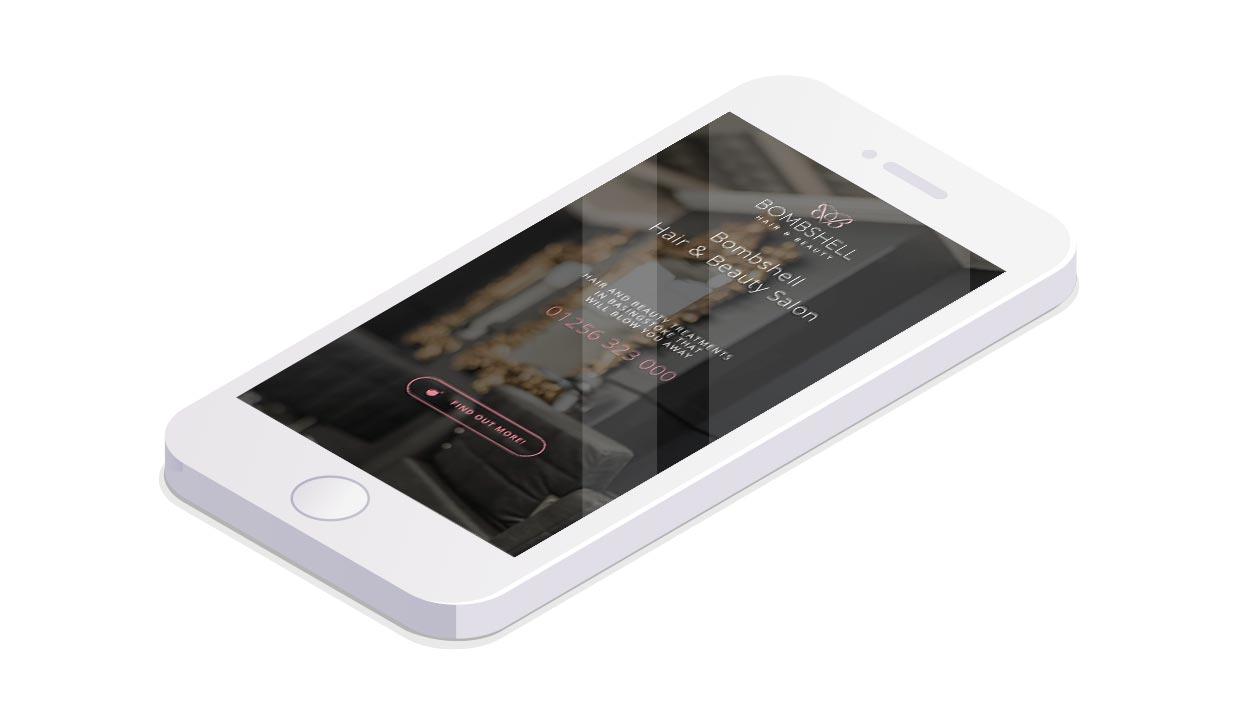 Bombshell Beauty Website Mobile