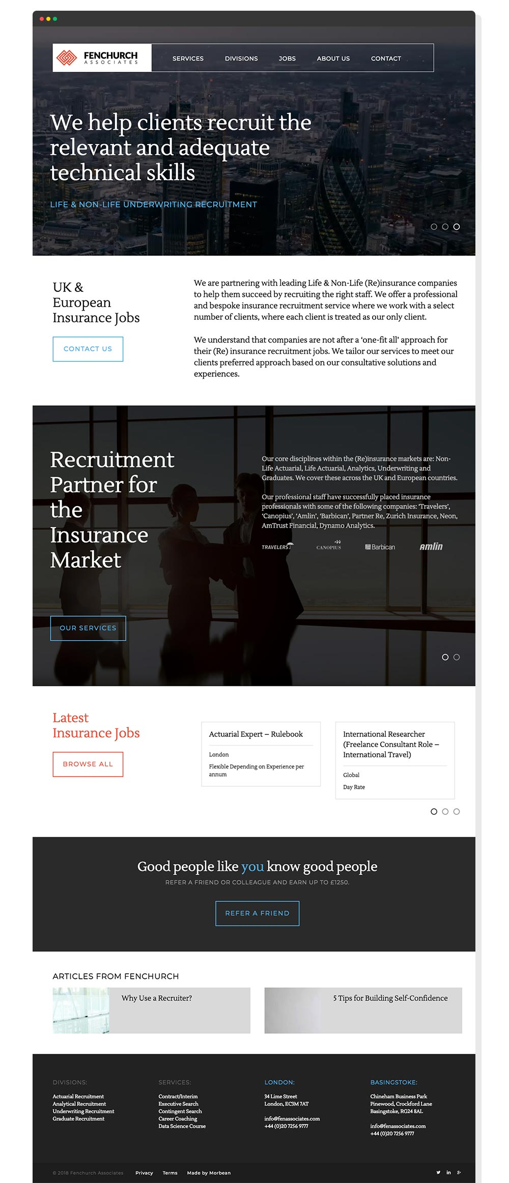 Fenchurch Associates Website Design