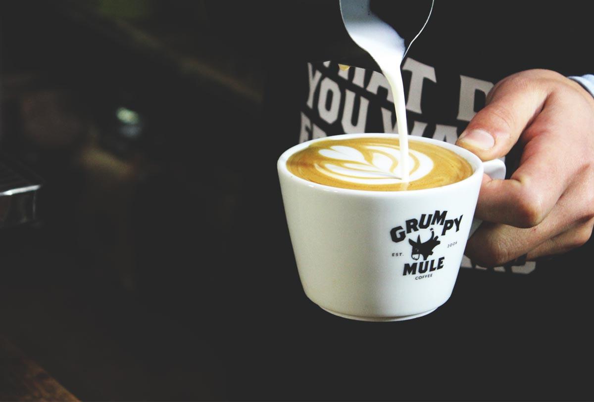 Orbital Trampoline Park Grumpy Mule Coffee