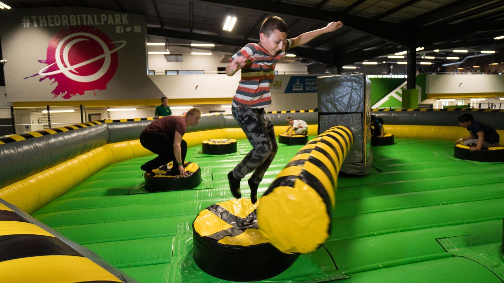 Orbital Trampoline Park kids