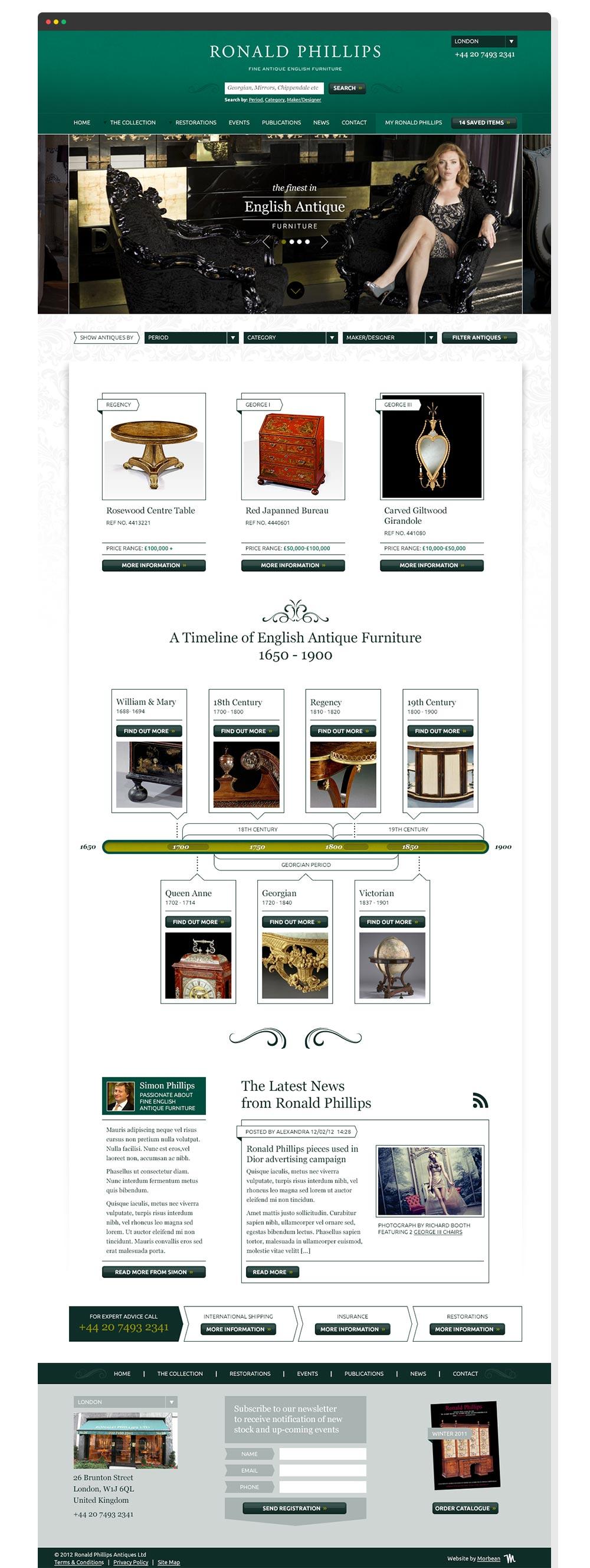 Ronald Phillips website design